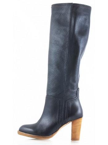 Сапоги весенние кожаные HISTORY (ИТАЛИЯ) 10541 черные