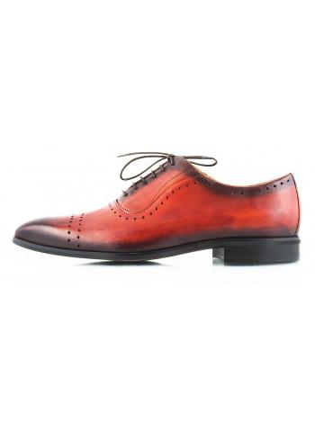 Туфли кожаные CONHPOL DYNAMIC (Poland ) 2487 коричневые