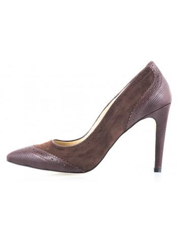 10554 GUBAN (Romania) Туфли кожано-замшевые коричневые