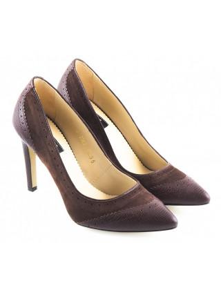 Туфли кожано-замшевые GUBAN (Romania) 10554 коричневые