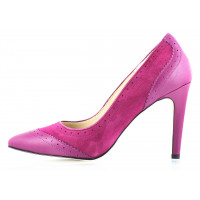 10555 GUBAN (Romania) Туфли кожано-замшевые фиолетовые