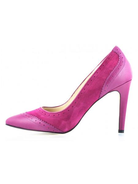 Туфли кожано-замшевые GUBAN (Romania) 10555 фиолетовые