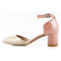 Туфли открытые лаковые MALLY (ИТАЛИЯ) 10624 бежевые
