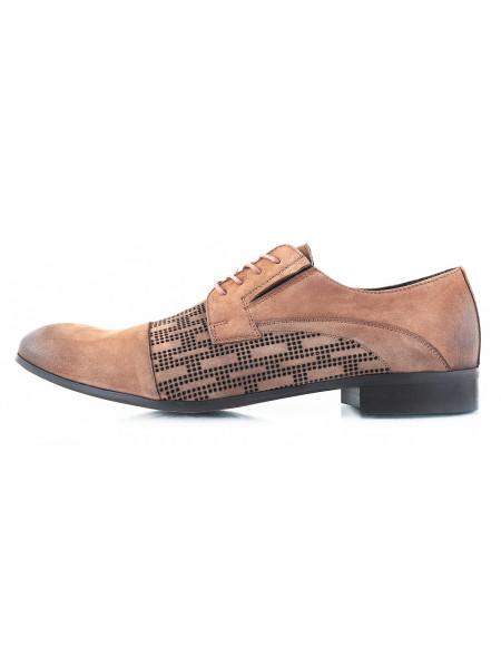 Туфли нубуковые сетка сквозная BADURA (Poland ) 2519 коричневые