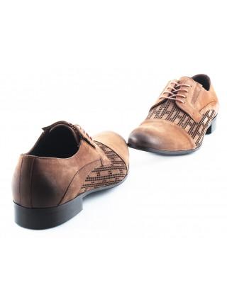 2519 BADURA (Poland ) Туфли сетка нубук коричневые