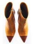 Полусапожки весенние кожаные NOE (ИТАЛИЯ) 10650 горчично-коричневые
