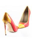 10652 NOE (Italy) Туфли кожаные красно-горчичные