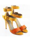 10659 NOE (Italy) Босоножки кожаные желто-рыжие