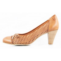 10662 CAPRICE (Germany) Туфли сетка кожаные коричневые