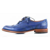 Туфли-броги кожаные CONHPOL DYNAMIC (Poland ) 2530 синие