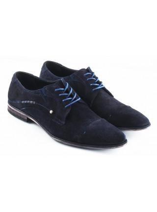 Туфли замшевые BADURA (Poland ) 2562 темно-синие