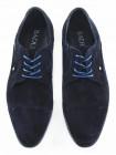 2562 BADURA (Poland ) Туфли замшевые темно-синие