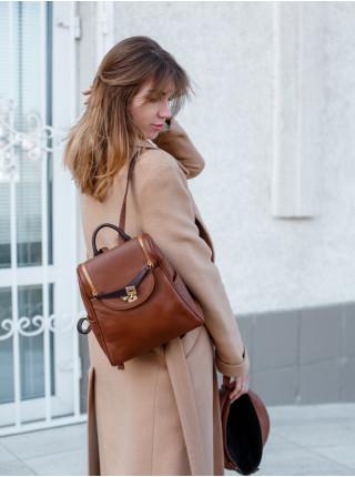 55022 BRUNO ROSSI (Italy) Рюкзак женский кожаный (24х26 см)