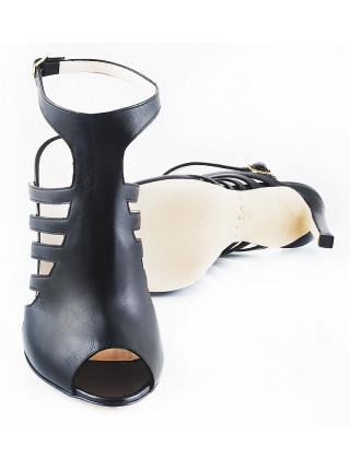 Босоножки кожаные REDA MILANO (ИТАЛИЯ) 10758 черные
