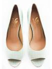 10801 1,618 (Italy) Туфли открытые замшево-лаковые светло-зелено-бежевые